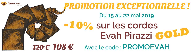 Promotion cordes Evah Pirazzi
