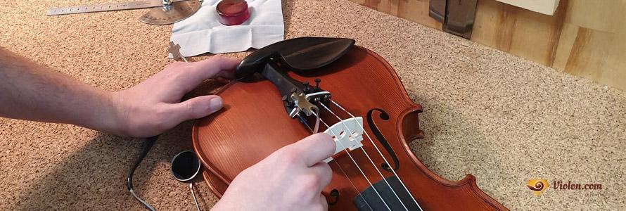 Mise en place de l'âme du violon
