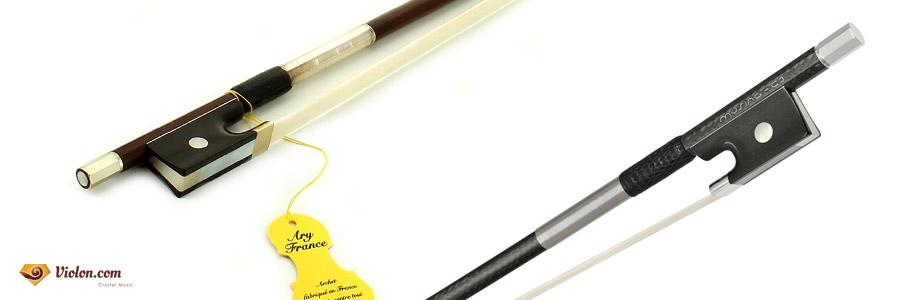 archet violon bois et carbone