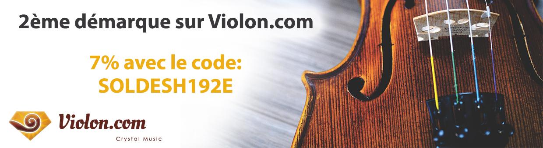 soldes 2ème démarque chez Violon.com