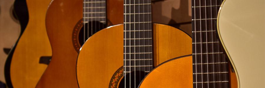 différentes tailles de guitares