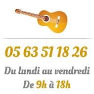téléphone de crystal guitare