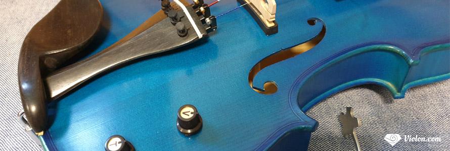 Violon électro-acoustique bleu