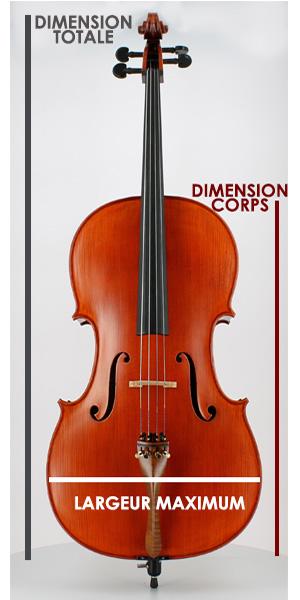 mesures du violoncelle