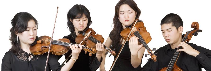 Violonistes et violoncelliste