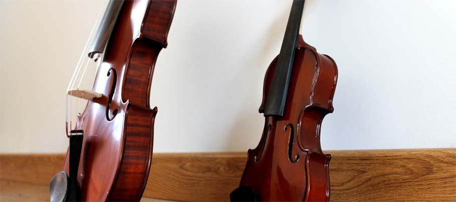 violon 4/4 et violon 1/32